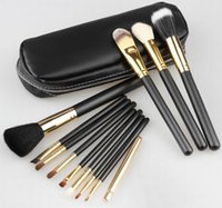 2017 Latest HOT Maquillaje Pinceles 12 piezas Maquillaje Profesional Pincel Set Kit oro
