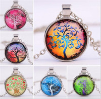 500pcs Alloy Vintage Living Tree of Life Glass Cabochon With...