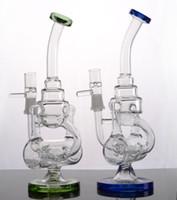 Base solide colorée Un verre Jet Bong dab Rigs Verre Tube d'eau Bubbler avec joint de 14 mm