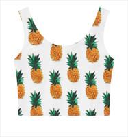 Wholesale- 2016 3D Fruit Pineapple Print Kawaii Cute Summer ...