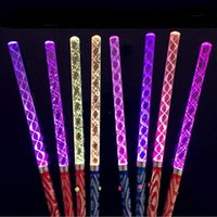 300pcs Free DHL Acrylic LED Glowing Led Magic Wands Sticks C...