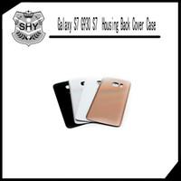 Housse en verre de couverture de batterie de CaseLogo + d'autocollant de couvercle de porte de batterie de bord G935 de S7 G930 de la galaxie S7 de Samsung avec le LOGO Livraison gratuite de DHL