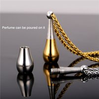 U7 Collier pendentif bouteille de parfum pour femmes / hommes Mode Nouveau cadeau bijoux Or plaqué en acier inoxydable Accessoires cadeaux parfaits GP1891