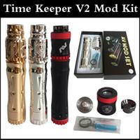 Хронометража V2 Kit Vape Модификации полный комплект хронометристом Mod + Battle RDA 510 Тема Медь Черный из нержавеющей стали 18650 мод через DHL