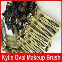 New Kylie Oval Makeup Brushes Face Brush Blending Toothbrush...