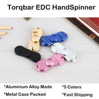 Torqbar EDC HandSpinner Finger Toys Декомпрессионная игрушка Беспокойный бездельник с розничной металлической коробкой 5 цветов Ручная прядильная машина