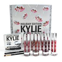 Kylie Especial Edición Limitada Kit de Caja de Vacaciones Kits de regalo de Navidad Kylie jenner labios de labios lápiz de labios cepillo cejas cejas eyeliner 2017