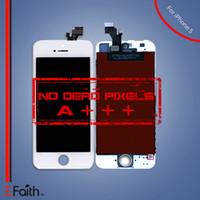Pour la catégorie A +++ iPhone 5 blanc écran tactile Digitizer LCD Assemblée Remplacement Livraison gratuite DHL