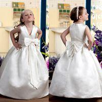 Sweety Custom Made A- Line Flower Girls' Dresses With Bi...