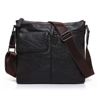 New Fashion Men' s Leather Messenger Bags Casual Male Cr...