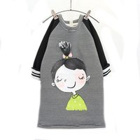 2016 winter girl dress striped long- sleeve kids clothing thi...