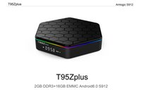 Octa Core 2GB 16GB T95Z plus S912 IPTV Smart Media Player Android TV Box prise en charge 2.4G + 5G WiFi Gigabit Lan Bluetooth