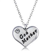 Send your mother to the gift God Mother diamond heart neckla...