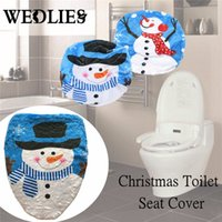 Wholesale- Christmas Snowman Toilet Seat Cover Black Hat Bran...