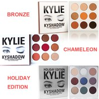 Kylie Cosmetics Bronze BURGUNDY édition de vacances Ombre à paupières KyShadow Palette kit kylie ombre à paupières étanche pas d'original