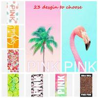 Розовый пляж BathTowel 70 * 140 см Тонкий розовый Письмо пляжные полотенца Спортивный полотенце VS банное полотенце Leopard цветок фламинго ванной полотенца KKA1434
