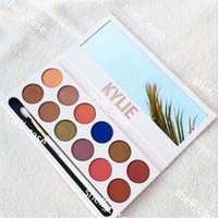 New 12 Colors Kylie The Royal Peach Eyeshadow Palette With K...