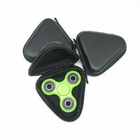 2017 Gyro Box pour Fidget Spinner à main Triangle Rectangle Circle Round Finger Toy Boîte à sac noir Sac à dos Carry Case