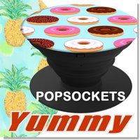 Yummy Food Desgin Pop Socket Supports de téléphone portable Popsockets Sans logo Expanding Stand and Grip Card Support Mount pour Samsung S7 S8