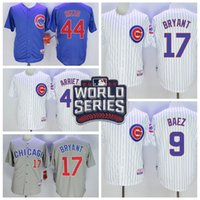 Мужские Чикаго Кабс # 17 Kris Брайант белый Джерси с 2016 года World Series Patch Дешевые # 9 Баэз # 44 Rizzo # 49 Arrieta Трикотажные изделия доступны
