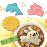 4pcs set Cartoon Sushi Molds Dolphin Rabbit Baby Rice Dough ...
