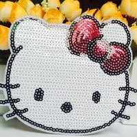 HolleKitty Patches Handmade Sequined Embroidery Clothing Fab...