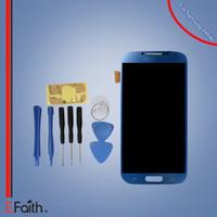 Pour Samsung Galaxy S4 i9500 i337 M919 Ecouteur à cristaux liquides à écran tactile bleu Remplacement Livraison gratuite DHL