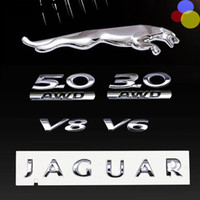 3D chrome silver for Jaguar XF XJ XJL Letter boot Side door ...