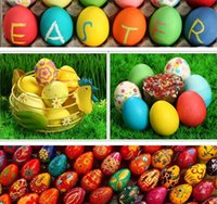 Easter Egg Lovely Colorful Eco- friendly Wooden Easter Eggs D...