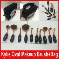 HOT Kylie Oval Makeup Brush Rose Gold Cosmetic Foundation BB...