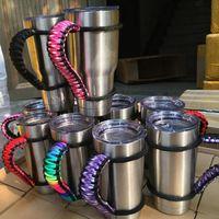 Handmade cup Handle Paracord YETI Rambler 20 Oz 30 oz Ramble...