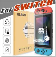 Pour Nintendo Switch Verre trempé HD Clear Anti-Scratch Protecteur d'écran en verre Version 1.0 2017 Ultra mince 0.32mm HD Clarity Scratch Proof