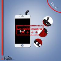 Écran LCD de catégorie A +++ de l'iPhone 6 de gros-Blanc avec le numériseur d'écran tactile Expédition libre de DHL