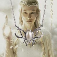 Le seigneur des anneaux Bijoux Hobbit de film Galadriel Elven Reine perle Pendentif Collier fait à la main silve plaqué Colliers Déclaration Haute Qualité 6