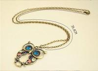 10000PCS сова ретро ожерелья ожерелья стразами бронзовые антикварные серебряные бусы длинные necklacces для женщин