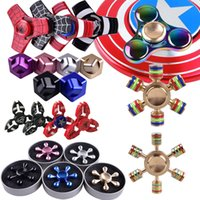 Fidget Spinners Toy Hand Spinner Golden Alloy Metal Multi Style Bearing CNC EDC Finger Tip Rotation Anxiété HandSpinners Toys DHL ZH02