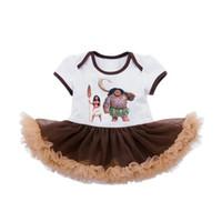 Girls Cartoon Dresses 2017 Moana Princess Dress Maui vestido...