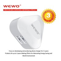 WEWO Dual USB Charger 2. 1A Travel Wall Chargers UK Plug Fold...