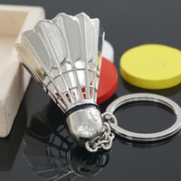 Sports Badminton Ball Keychain Stainless Steel Metal Casual ...