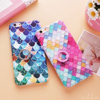 For iPhone 7 6 6s Plus Hard PC Fashion Colorful Mermaid Fish...