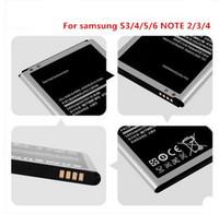 Samsung Batterie Li-ion haute capacité pour Samsung Galaxy S6 S5 S4 S3 Mini i9500 Batteries Note2 Note3 Note4 Batterie
