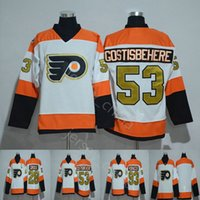50th Anniversary Philadelphia Flyers Jerseys Ice Hockey #53 ...