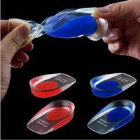 2 cores silicona Gel palmilhas calcanhar calcanhar Spur elástico cuidado meia palmilha insere CCA5530 1000pcs