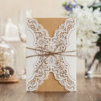 Rustic invitations natural color with hemp rope wed invitati...