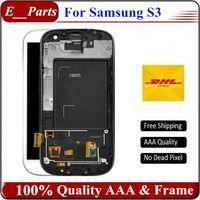 Nouvelle catégorie AAA pour Samsung Galaxy S3 lcd i9300 i747 i9305 i535 Écran LCD Écran tactile Montage avec cadre