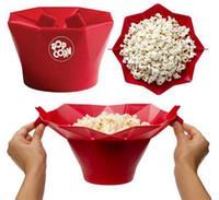 Красный силиконовый Popcorn Maker Мини Складная простой в использовании Попкорн машина Кухонный инвентарь для микроволновых Кухонная техника PPA739