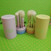 HOT Kylie Maquillage Brush Cosmetic Foundation BB Crème Poudre Blush 9 pièces Maquillage Outils Or / Bleu