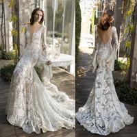Lihi Hod 2017 Mermaid Wedding Dresses Full Lace Backless Bri...