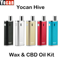 Аутентичные сигареты испарителем комплекты Yocan улей Kit E с 2 Форсунки для воска CBD нефти Портативный Ecigs 5 цветов