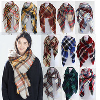 New 92 colors Winter New Tartan Scarf Plaid Blanket Scarf Ne...